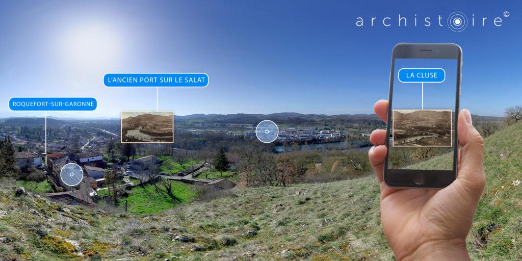 Panorama 360 Archistoire Autres Garonnes du passage des petites Pyrénées